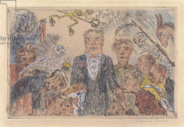 Pride, 1904 (hand-coloured copper etching)