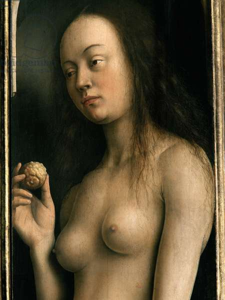 Detail of Eve, from the right wing of the Ghent Altarpiece, 1432 (oil on panel) (see 472353, 472324)