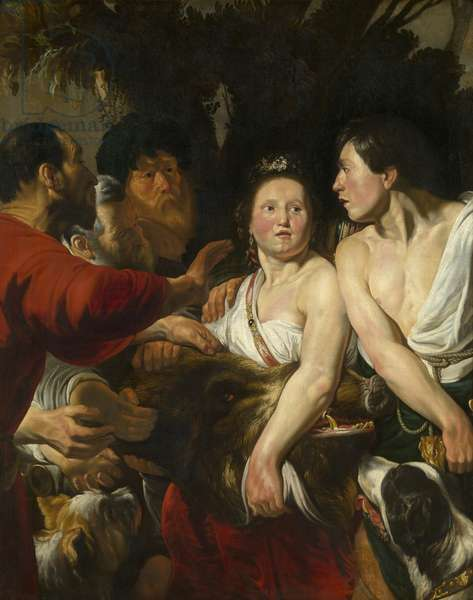Meleager and Atalante, 1617-18 (oil on canvas)