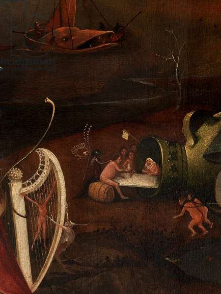 Detail of the central panel of the Last Judgement (oil on panel)