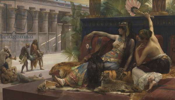 Cleopatra Testing Out Poison on Condemned Prisoners, 1887 (oil on canvas)