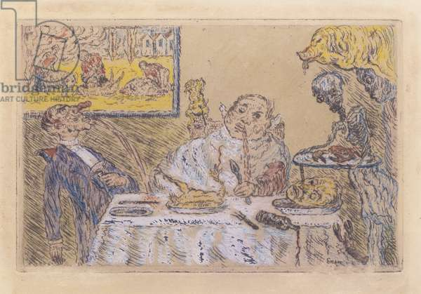 Gluttony, 1904 (hand-coloured copper etching)