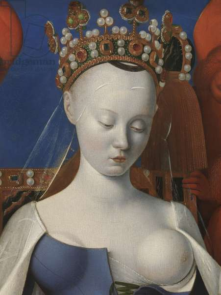 Virgin and Child surrounded by cherubim and seraphim, detail, 1452 (oil on panel) (detail of 471132)