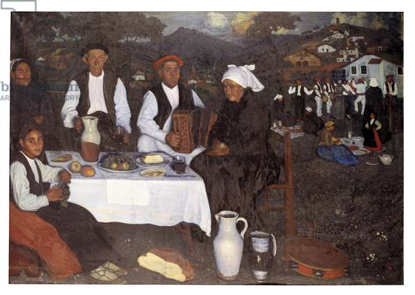 Peasant Party (oil on canvas)