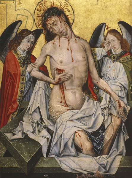 The Man of Sorrows, 1430 (oil on panel)
