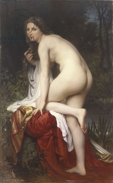 Woman Bathing, 1864 (oil on canvas)