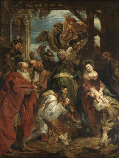 The Adoration of the Magi, 1624 (oil on panel)