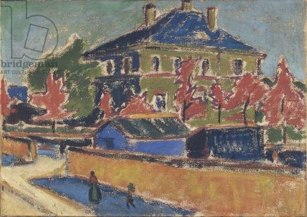 Villa in Dresden, 1910 (oil on canvas)