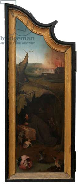 Left panel of the Triptych of Job, c.1500-24 (oil on panel)
