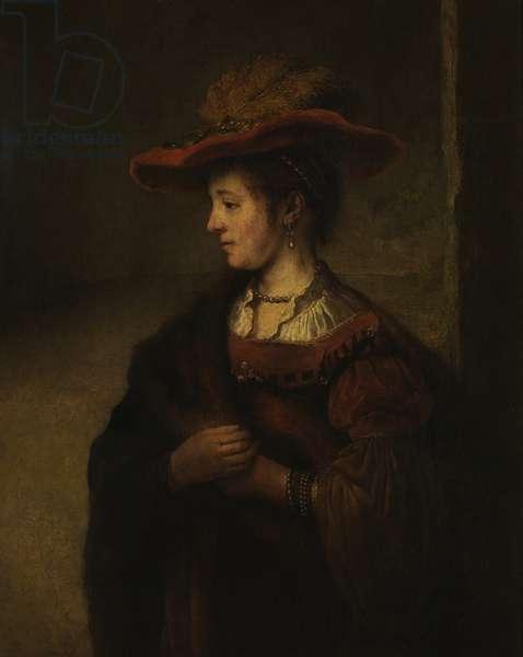 Portrait of Saskia van Uylenburgh (oil on canvas)