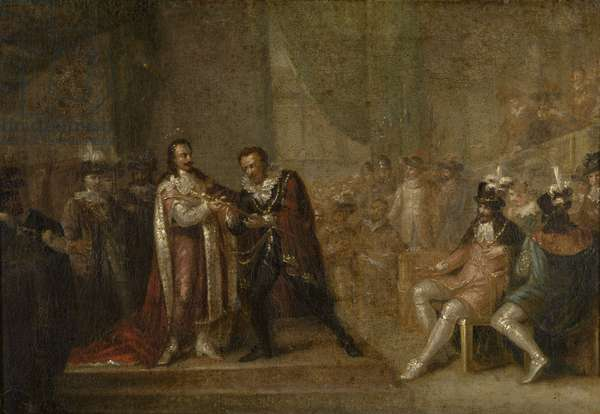 Peter Paul Rubens Accepting a Sword from Charles I of England, 1808 (oil on canvas)