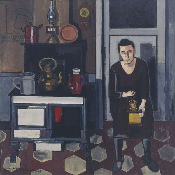 Woman in a Kitchen, 1935 (oil on canvas)