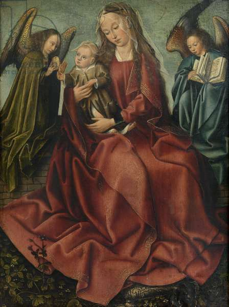 The Virgin and Child between two angels, 1495 (oil on panel)