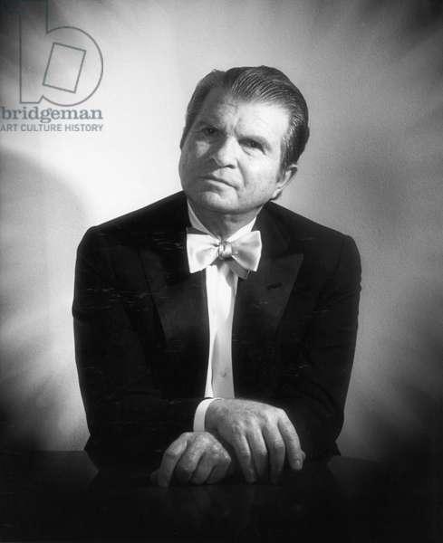 Emil Gilels portrait. 1978 Russian pianist born in Odessa, 19 October 1916 – 14 October 1985.