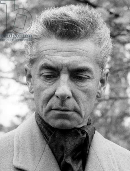 Herbert von Karajan - portrait of the Austrian conductor, Berlin, 1963. 5 April 1908 - 16 July 1989.