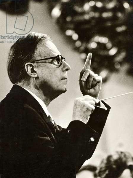 BOHM, Karl - in 1969 (Austrian conductor, 1894-1981)