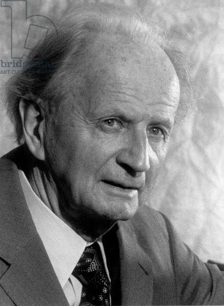 Wilhelm Kempff. German Pianist, Munich 1977 25 November 1895 – 23 May 1991.