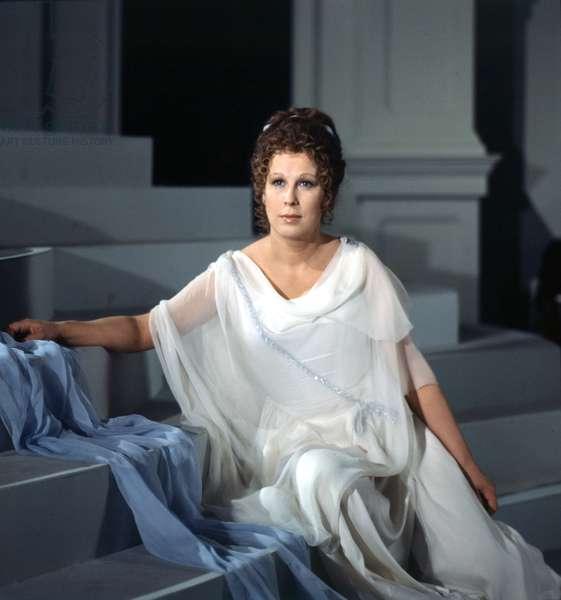 JANOWITZ, Gundula as Ariadne in Strauss' Ariadne auf Naxos. German soprano b. 1937