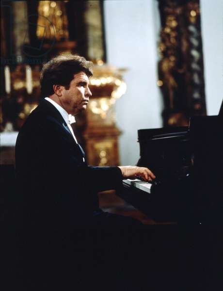 Emil Gilels playing the piano. Russian pianist (1916-1985).