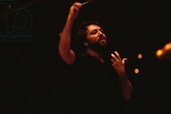 Riccardo Chailly conducting. Italian Conductor, b. 20 February 1953 - . Son of the composer Luciano Chailly