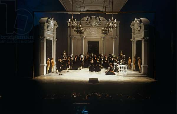 Le Nozze di Figaro - scene from the opera by Austrian composer Wolfgang Amadeus Mozart , performed at the Salzburg Festival in 1991.