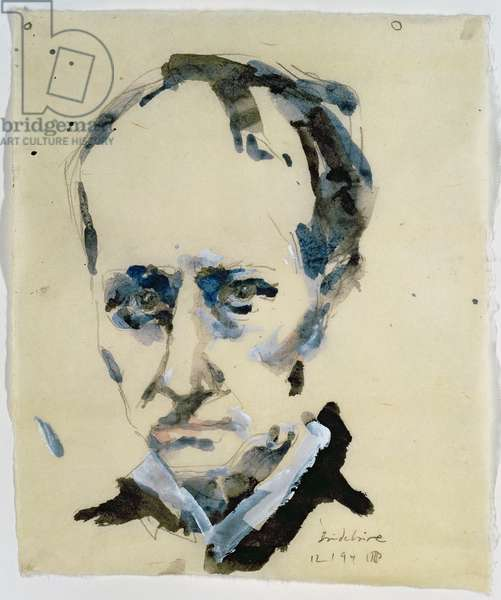 Charles Baudelaire, 12th January 1994 (pencil & w/c on paper)