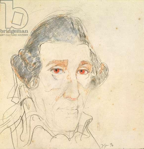 Franz Joseph Haydn (1732-1809) 1990 (pencil and pastel on paper)