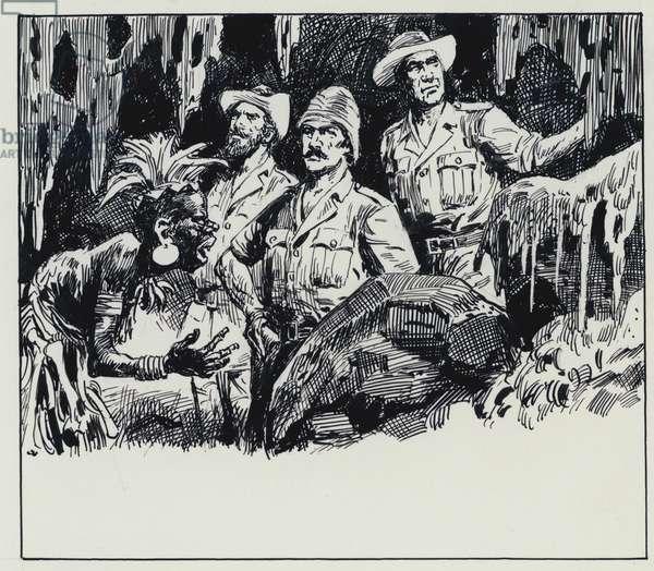Illustration for King Solomon's Mines (gouache on paper)