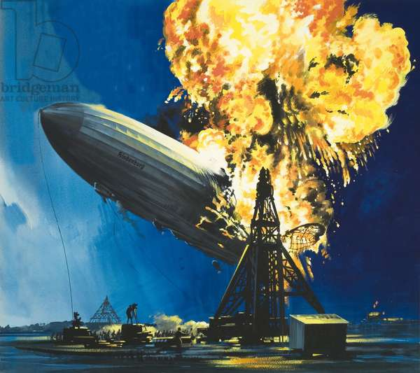 The destruction of the Hindenburg