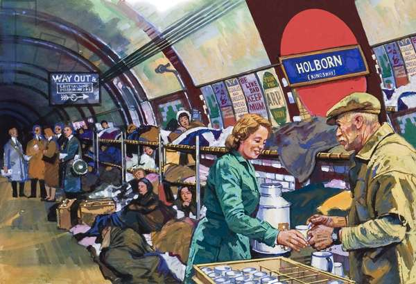 London Underground in the blitz