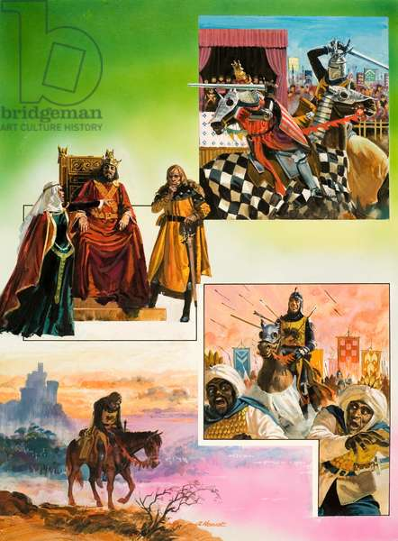 The story of El Cid (gouache on paper)