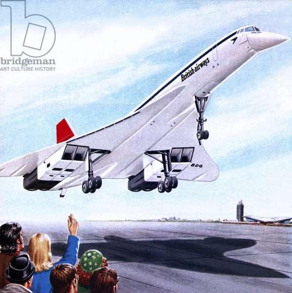 Concorde landing in New York on 22 November 1977