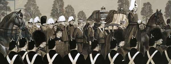 The funeral cortege of Queen Victoria