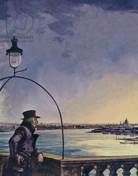 William Wordsworth, Upon Westminster Bridge (colour litho)
