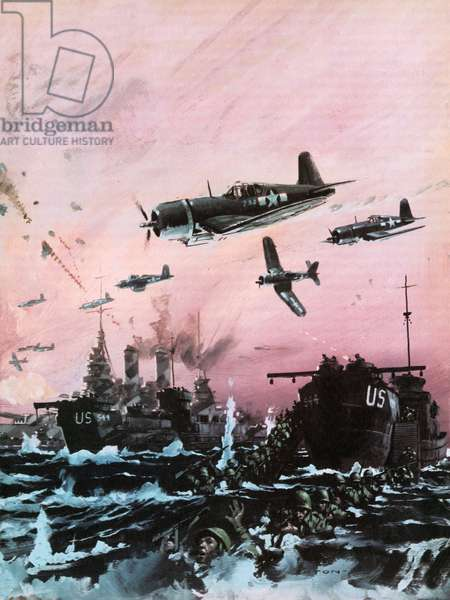 American offensive in the Pacific during World War II