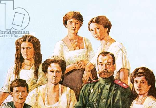 Tsar Nicholas II with this family