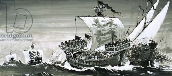 Unidentified Crusaders' ships