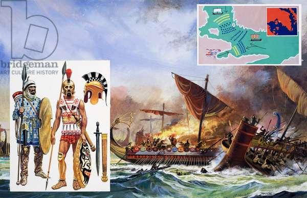 Battle of Salamis, 1981 (gouache on paper)