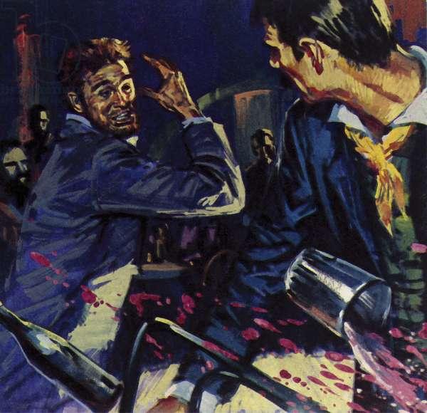 Vincent Van Gogh and Paul Gauguin were friends but drink led to arguments (colour litho)
