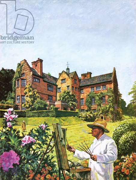 Winston Churchill painting at Chartwell