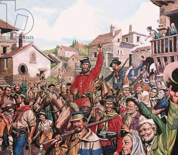 Guiseppe Garibaldi's triumphant arrival in Naples