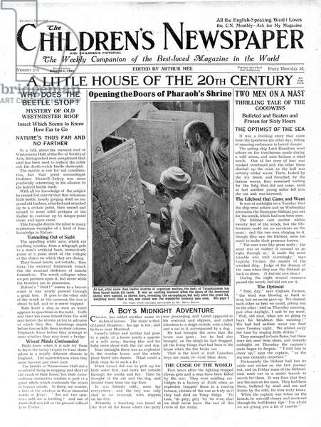 A Little House of the 20th Century, front page of 'The Children's Newspaper', March 1924 (newsprint)
