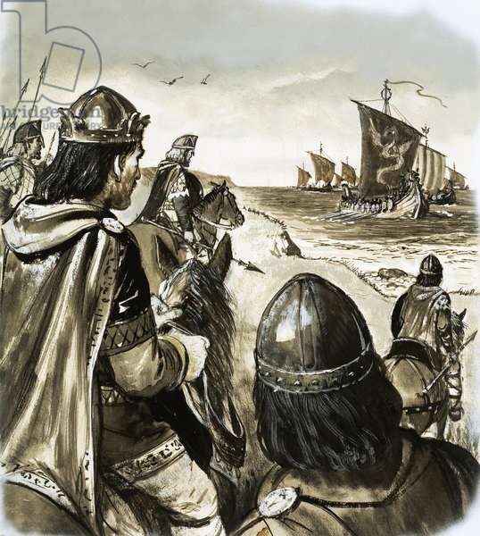 Edward the Confessor as a young king enduring trouble from Danish invaders