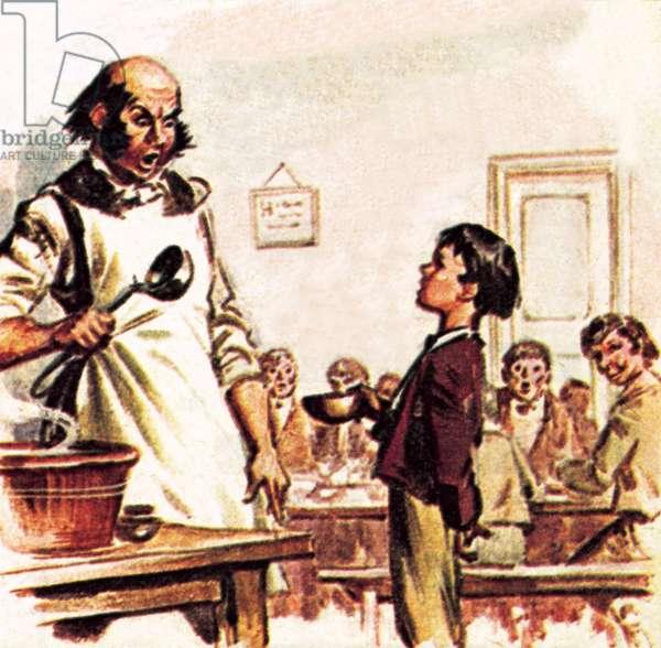 Oliver Twist asking for more