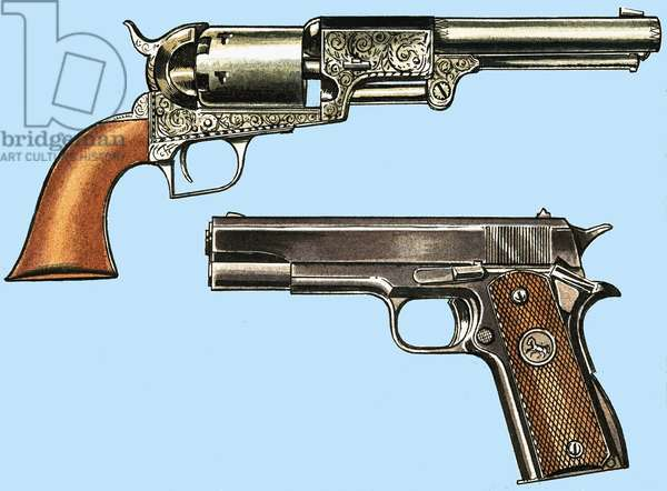 Colt Revolver and automatic