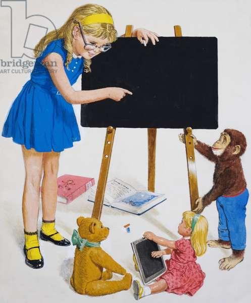 Girl with Blackboard