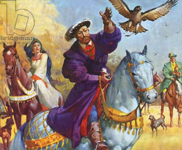King Henry VIII hunting