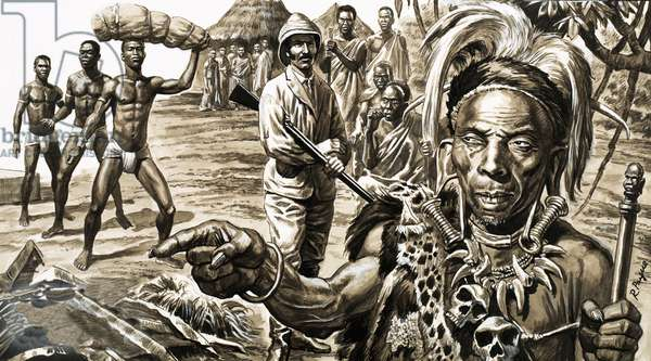 The witch doctor pointed into the distance, revealing in which direction lay the lost city of Solomon