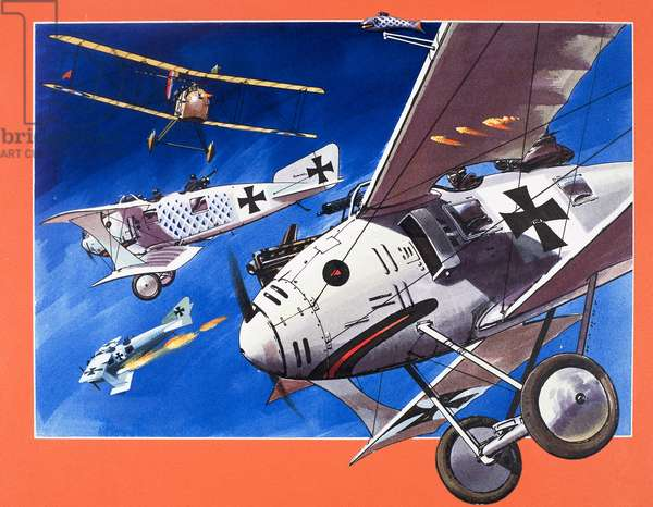 The Roland C-11, from 'Planes of the Past' (gouache on paper)