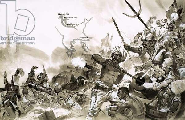 The Turkish armies of Suleiman surround Vienna in 1529